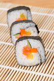 Sushi in una riga Immagini Stock Libere da Diritti