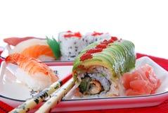 Sushi und maki Lizenzfreie Stockfotos