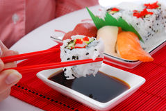 Sushi und maki Lizenzfreies Stockfoto