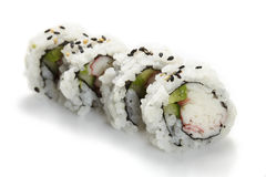 Sushi uramaki, inside out, california roll Stock Image