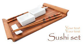 Sushi utensil for two Royalty Free Stock Image