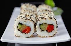Sushi vegetariano Foto de archivo libre de regalías