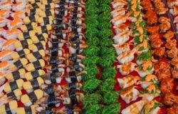 Sushi velen royalty-vrije stock fotografie