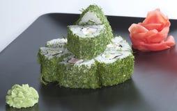 Sushi verde Imágenes de archivo libres de regalías