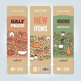 Sushi vertical banners Stock Photography