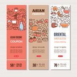 Sushi vertical banners Royalty Free Stock Images