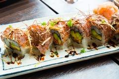 Sushi. Wagyu sushi on the plate Royalty Free Stock Image