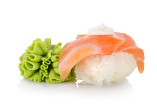 Sushi and wasabi Stock Photo