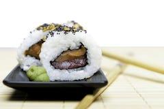 Sushi and wasabi Stock Image