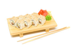 Sushi with wasabi and ginger Stock Image
