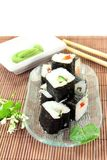 Sushi with Wasabi Stock Images