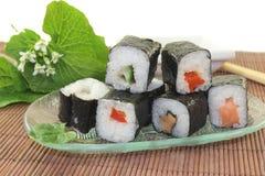Sushi with Wasabi Royalty Free Stock Photo