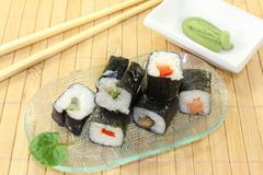 Sushi with Wasabi Stock Photo