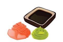 Sushi Wasabi Royalty Free Stock Image