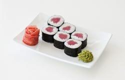 Sushi on white Royalty Free Stock Photography