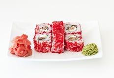 Sushi on white Royalty Free Stock Photo