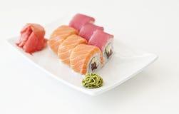 Sushi on white Stock Photography