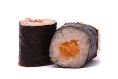 Sushi on a white background Royalty Free Stock Photo