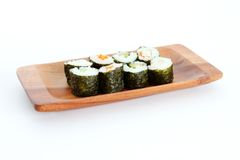 Sushi on White Background Royalty Free Stock Photo