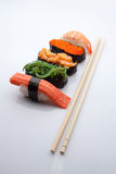 Sushi. On a white background Royalty Free Stock Image