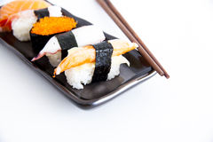 Sushi with white background Royalty Free Stock Image