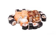Sushi on the white background Stock Image