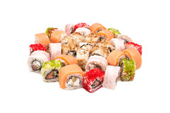 Sushi on the white background Royalty Free Stock Images