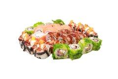Sushi on the white background Royalty Free Stock Photo