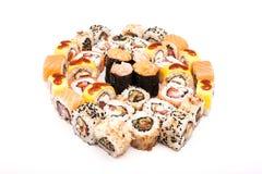 Sushi on the white background Stock Images