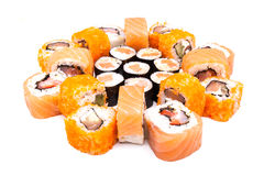 Sushi on the white background Stock Images