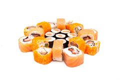 Sushi on the white background Royalty Free Stock Photography