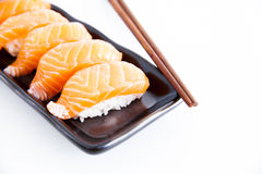 Sushi with white background. Salmon sushi with white background Stock Images