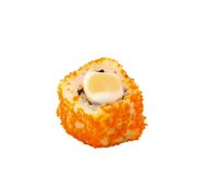 Sushi on white background. The traditional food of the Japanese (Sushi Stock Image