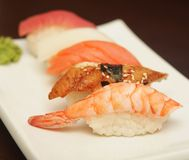 Sushi  on a white plate. See my other works in portfolio Royalty Free Stock Photo