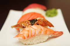 Sushi  on a white plate. See my other works in portfolio Stock Photo