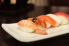 Sushi  on a white plate. See my other works in portfolio Stock Image