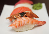 Sushi  on a white plate. See my other works in portfolio Stock Photography