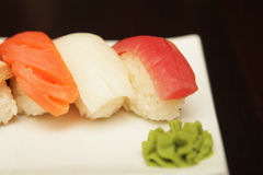 Sushi  on a white plate. See my other works in portfolio Royalty Free Stock Image
