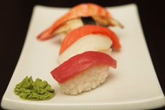 Sushi  on a white plate. See my other works in portfolio Royalty Free Stock Images