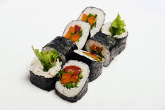 Sushi  on white Stock Image