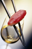 Sushi and wine Royalty Free Stock Image