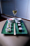 Sushi and Wine Stock Image