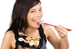 Sushi woman Royalty Free Stock Image
