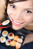 Sushi woman Stock Photo
