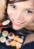 Sushi woman Stock Photo