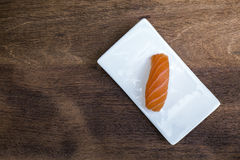 Sushi on wooden background Royalty Free Stock Photography