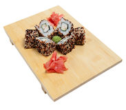 Sushi on wooden stand Royalty Free Stock Photography