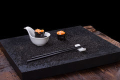 Sushi on wooden table Stock Images