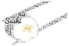 Sushi. Word cloud - isolated on white background Stock Image