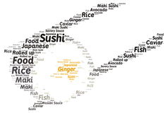 Sushi. Word cloud - isolated on white background Royalty Free Stock Image